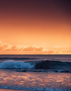 Waves breaking during a gorgeous sunset in Costa Rica. Photographed by Kristen M. Brown, Samba to the Sea for The Sunset Shop.