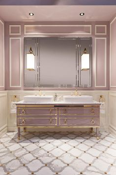 Lutetia collection of luxury bathroom furniture by Oasis, features vanities, cabinets and tall units, inspired by Art Déco design and architecture.