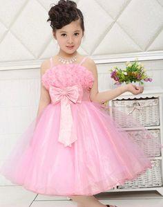 Girl Party Dress Rose Petal Kids Girl Princess Dress 3-12 Years Children Wedding Birthday Clothing Vestido De Festa Infantil