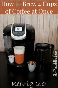 How to Brew Multiple Cups of Coffee at Once in a Keurig: Introducing Keurig 2.0 #Keurig400 #ad