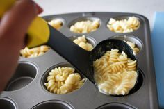 Mac and cheese muffins are my favorite new hors d'oeuvres.