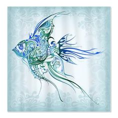 Pretty Blue Tropical Fish Shower Curtain Maybe Get This Style In A Different Animal