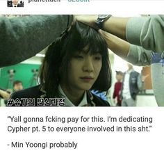 That face though Yoonji #5 #funny #kpop #meme #post #stan #Twitter #bias #cypher #pt #bts #yoongi #yoonji #suga