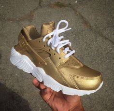 Nike Air Huarache Gold Customs