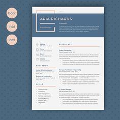 Resume Aria by Estartshop on Graphics Author - Resume Template Ideas of Resume Template - Resume Aria by Estartshop on Graphics Author Resume Design Template, Cv Template, Resume Templates, Design Resume, Design Templates, Resume Layout, Resume Writing, Resume Cv, Web Design