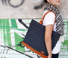 Deep Navy Leather Bag Uncovet