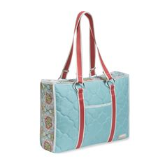 Horizontal Tote II Casablanca Sky Blue. 20% off right now! #sale #tote
