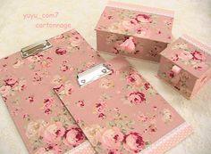 Jabón Decoupage y caja paño cartonaje - Yahoo! blogs cuadro paño cartonaje Antique Rose Smoky Pink