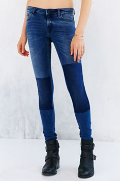 3cf1e920bb6cc Just Female Used Patch Skinny-Fit Jean - Urban Outfitters