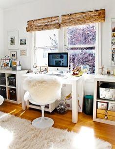 #Saarinen Tulip Chair in an inspiring home office space.