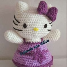Purple Dress Hello Kitty Amigurumi