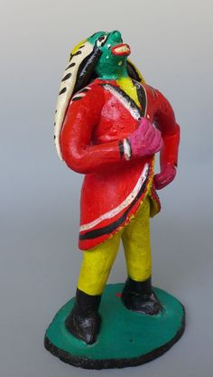 """Old vintage Mexican ceramic figure by CANDELARIO MEDRANO 10"""" tall"""