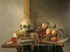 Harmen Steenwyck (1612-1656), Vanitas avec crâne, livres et fruits, 1630 (Source : Instituut Collectie Nederland).