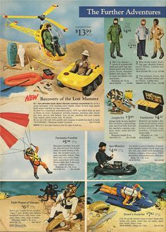 Cant Find In The Shops. Some Invaluable Tips On Finding The Best Toys. In the past, toys were simple and playtime was basic. Now, toys are very complicated and unique. The advice you'll find in this article can educate you on Gi Joe, 1970s Toys, Retro Toys, 1960s, Childhood Toys, Childhood Memories, Toy Catalogs, Christmas Catalogs, Christmas Books