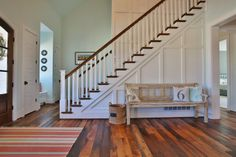 Love the staircase and gorgeous wood floors! - House of Turquoise: Stacye Love Construction and Design