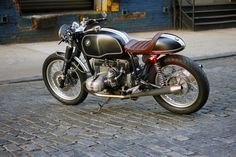 Left Rear View Of The Beautiful BMW R100T Cafe Racer