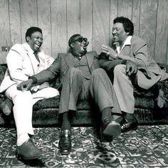 "Jim Marshall: BB King, Albert King and Bobby ""Blue"" Bland Backstage, Circle Star Theater, Redwood City, CA early Bb King, Jazz Blues, Blues Music, Pop Music, Jim Marshall, Albert King, Delta Blues, Muddy Waters, Blues Artists"