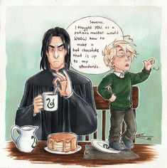 Snape on babysitting duties. CaptBexx on deviantart