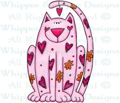 Cat Love - Cats - Animals - Rubber Stamps - Shop