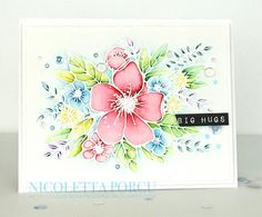 I Love Scrapbooking: Big Hugs! Pretty Cards, Cute Cards, Diy Cards, Handmade Cards, Watercolor Background, Watercolor And Ink, Concord And 9th, Big Hugs, Creative Memories