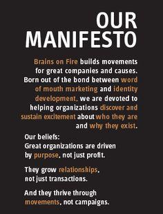 brains on fire brand manifesto