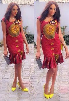 Ankara Short Gown Style
