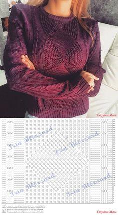Модный пуловер. Спицы. - Страна Мам