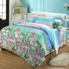 Satin full cotton twill beddign sets  #stain #cotton #bedding #bedroom