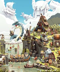 Viking Life - The Daily life In a small viking village ; Beware the Sea Serpent and the Norse Gods!