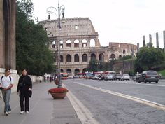 Rome, Italy ancient and new intermingled.