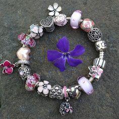 Today's Pandora Floral Garden Romance bracelet!