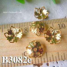 12 pcs 9mm raw brass filigree bead caps for bead by diyla on Etsy, $2.00