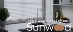 Brand new Faux Wood collection by Sunwood is now available from Direct Order Blinds. Perfect for areas of high moisture, such as kitchens and bathrooms, the range emulates a sophisticated wood grain or a contemporary smooth finish. Blinds Online, Faux Wood Blinds, Shades Blinds, Blackout Curtains, Shutters, Venetian, Window Treatments, Windows, Nursery Blackout Curtains