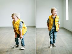 Boys back to school fall looks in @gapkids. Love the puffer + beanie look!