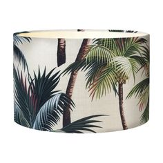 Vintage Beach Shack Palm Tree Lampshade