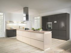 Two-tone kitchen cabinets can work with a variety . Here are a few ideas to integrate two-tone cabinets into your own kitchen. Kitchen Cabinets Color Combination, Two Tone Kitchen Cabinets, Kitchen Cabinet Colors, Built In Cabinets, Kitchen Decor, Kitchen Ideas, Wood Cabinets, Kitchen Inspiration, Wood Plank Flooring