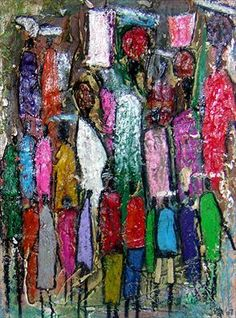 """Starting up """"The Art for Caring"""" workshop with Gambian artists in Januari 2014"""