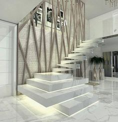 Beautiful staircase design by Carolina Napy Hamad via .