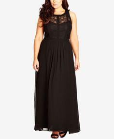City Chic Plus Size Sleeveless Maxi Dress | macys.com