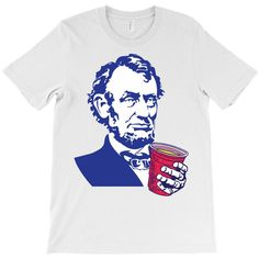 f42b1361 Custom Abraham Lincoln Celebrating Of July T-shirt By Tshiart - Artistshot