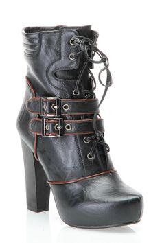 Nicole Lee Roslin Boot In Black - Beyond the Rack