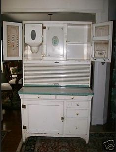 Kitchen Cupboard with Flour Mill (my grandma had one)