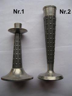 Винтажные металлические подсвечник и ваза. от VIRTTARHAR на Etsy