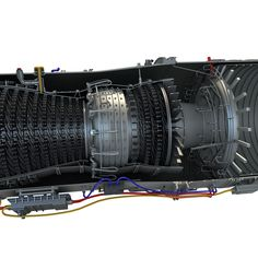 general electric cf6 80c2 cutaway aerospace cutaways and. Black Bedroom Furniture Sets. Home Design Ideas