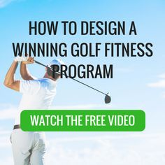 I'm on my way to a winning golf fitness program
