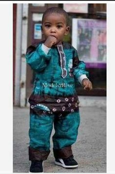 he's wearing African print so cute African Inspired Fashion, African Print Fashion, Africa Fashion, African Fashion Dresses, African Prints, Ghanaian Fashion, African Babies, African Children, African Women