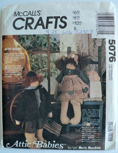 Vintage - Attic Babies – Doll and Clothes Pattern - Patty and Pauly Patches - McCall's Crafts No. 5076 by DocksideDesignsEtc on Etsy
