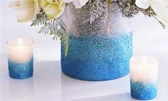 •❈• Watch Make an Ombre Glittered Vase in the Better Homes and Gardens Video  This video is great, I didn't think it would be this easy, I am definitely going to try this one.