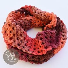 Granny Golightly - free crochet infinity scarf/cowl pattern by Polly Plum / Every Trick on the Hook