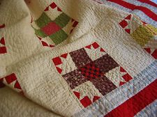Beautiful Antique Hand Stitched Quilt Nine Patch Variation, eBay, bgrboots